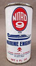 vintage NITRO 9 Marine Engine Fuel Additive FULL UNUSED 4 Fl. Oz. can