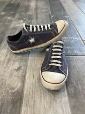 Converse Navy Blue One Star Low Rise Canvas Laced Tennis Shoes Mens 10 Womens 12