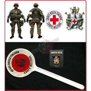 Paletta Segnaletica Ambo le Parti Rosse Croce Rossa Italiana Corpo Militare