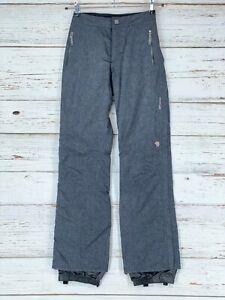 Mountain Hardwear Womens Sz Small Long Conduit Snow Ski Pants Gray Lined Pockets
