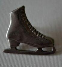 Vintage Ballow Brooch Pin Pewter ICE SKATE - figure skating