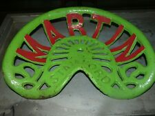 2ND MARTIN  VINTAGE   CAST IRON TRACTOR IMPLEMENT SEAT COLLECTIBLES