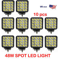 "10x 4""inch 48W SPOT LED Work Light Bar Offroad Fog Lamp Jeep Boat Truck Driving"