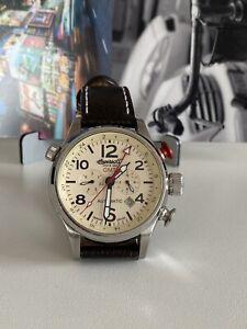 Ingersoll Herren-Armbanduhr Lawrence Chronograph Automatik Leder IN3218 Limited