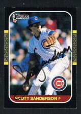 Scott Sanderson #447 signed autograph auto 1987 Donruss Baseball Trading Card
