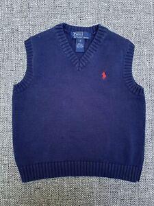 Boy's Polo by Ralph Lauren Blue V-Neck Sweater Vest-Size 5