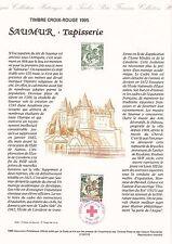 Document Philatélique Timbre 1er Jour : 13/05/ 1995 - Croix Rouge Saumur