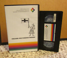 FINLAND FOR FOREIGN FRIENDS education Finnish language VHS import Nordic