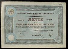 2 x Marienberger Mosaikplattenfabrik 100 + 1000 DM Broitzem, 1951