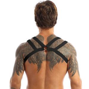 US Men Body Chest Harness Elastic Strap Clubwear Gay Fancy Costume Underwear