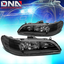 For Honda Accord 1998 2002 2dr 4dr Jdm Black Housing Clear Corner Headlights