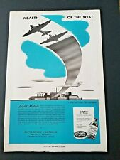1944 RAINIER BEER SEATTLE BREWING Ad Slick Wealth of the West LIGHT  METALS 47BL