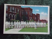 Vintage Postcard A Company At Drill Riverside Military Academy, Gainesville, Ga.