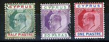 Cyprus King Edward VII 1902-1904 Wmk  Crown CA Part Set SG 50 to SG 52 MINT/VFU