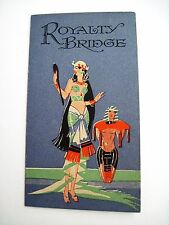 "Vintage Art Deco Bridge Tally ""Royalty Bridge"" w/ Egypt Queen Cleopatra  *"