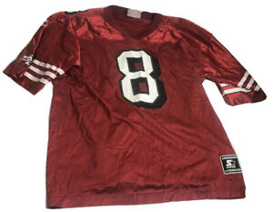 Vintage Steve Young Starter Jersey San Francisco 49ers NFL Red #8 Youth XL 1998