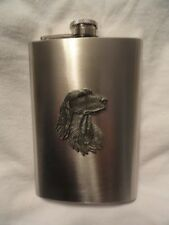 Stainless Steel Flask with Pewter Irish or English Setter New in Box (b)