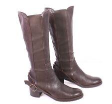 6S C. Doux Damen Stiefel Boots Reiterlook Gr. 37 Blockabsatz Leder Stretch