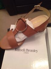 Russell & Bromley Truco Talla 37 tan Becerro De Oro Nuevo