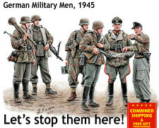 SCALE MODEL KIT LETS STOP THEM HERE GERMAN MILITARY MEN 1/35 MASTER BOX 35162