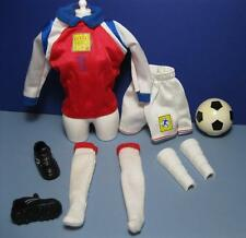 1999 World cup Barbie Theresa Mia Hamm Soccer Shoes Outfit Shin Guards socks