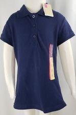 Cherokee Girls Navy Blue Polo Shirt Blouse School Uniform Size Xs 4 5 Nwt