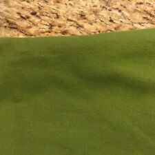 Army Avocado Green Cotton Flannel Fabric BTY x 43""