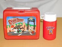 VINTAGE 1987 PLASTIC LUNCH BOX WHO FRAMED ROGER RABBIT  with THERMOS