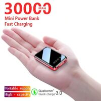 30000mAh Mini Power Bank Portable Phone Fast Charger 02 USB Charging External
