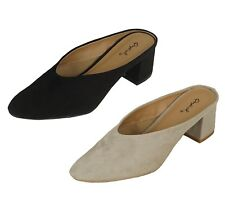 Women's Slide Mules Suede Sandals Shoes Black Gray Qupid Sizes 5.5-10 New