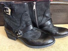 NEW! Donald J Pliner Black Delta Buckled Sexy Leather Ankle Boots 9 M $398