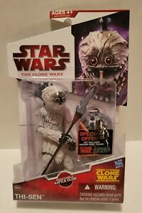 Star Wars The Clone Wars Thi-Sen figure CW43 removable battle club