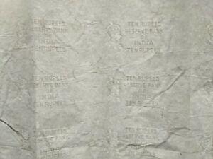 1937 Bank Notes Sheet British India Water-marked 10 rupee KGVI x 1