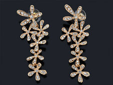 Fashion Women's Crystal Rhinestone  Ear Stud Snowflake Flower Dangle Earrings