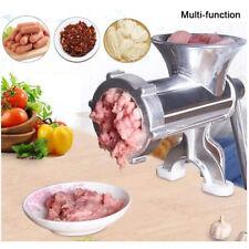 Multi- Meat Grinder Mincer Stuffer Hand Manual Sausage Filler Sauce Maker Machin