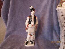 "Vintage Hungarian Porcelain Hollohaza 12"" Man Figurine in Folk Dress Groom 1834"