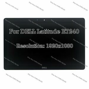 """12.5"""" Dell Latitude E7240 FHD LCD LED Display Touch Screen Digitizer Assembly"""