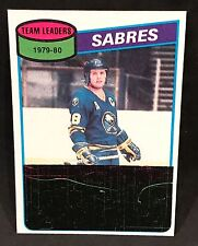 1980-81 TOPPS DANNY GARE SABRES LEADERS UNMARKED CHECKLIST CARD #38 NM-NMTMT