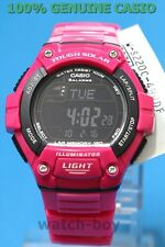 W-S220C-4B 120 Pink Black Lap Memory Casio Watch Tough Solar Sporty Digital WS