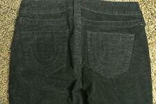 TRUE RELIGION 26X29 Jeans NWOT$249 Sexy Soft Black! Skinny Stretch! Logo Pocket