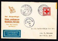 "Erstflug / Första tur SAS ""Stockholm - Norrtälje"" 17.02.1946 !! -selten-"