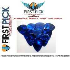 Guitar Picks pack of 10  Blue Pearl .61mm  from First Pick Custom Guitar Picks