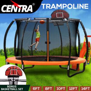 Centra Trampoline Round Trampolines Kids Enclosure Safety Net 6 8 10 12 14FT