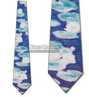 Water Lillies Tie Monet Neckties Mens Art Neck Ties