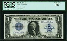 1923 $1 SILVER CERTIFICATE BANKNOTE FR-239 GEM UNCIRCULATED CERTIFIED PCGS CU65