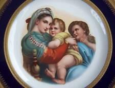 Antique Fischer & Mieg Cabinet plate after Raphael's Madonna della seggiola