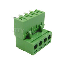 20 pcs 5.08mm Pitch 300V 16A 4P Poles PCB Screw Terminal Block Connector Green