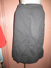Vintage 1960's stretchy black wool skirt wiggle pencil bombshell L Large