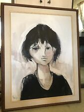 """Gino Hollander Original Expressionist Oil Painting on Canvas - 30"""" x 40"""" - 1983"""