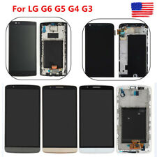 For LG G6 G5 G4 G3 LCD Display Screen Touch Digitizer Frame Assembly Replacement